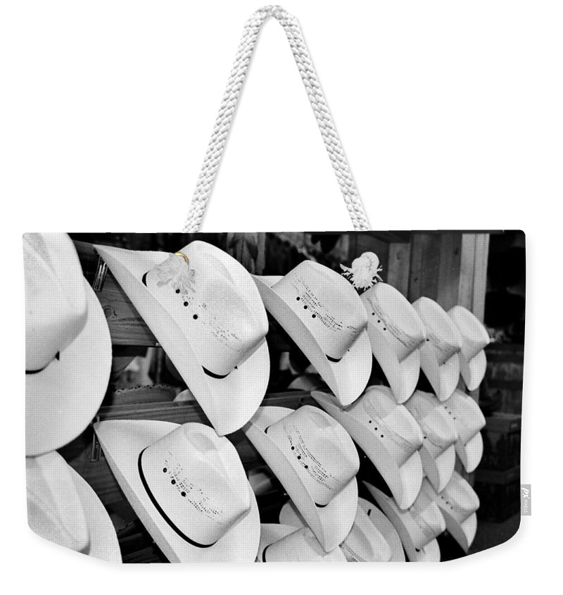 Hat Weekender Tote Bag featuring the photograph Hat And Boot Store Nashville Tn by Joseph Mari