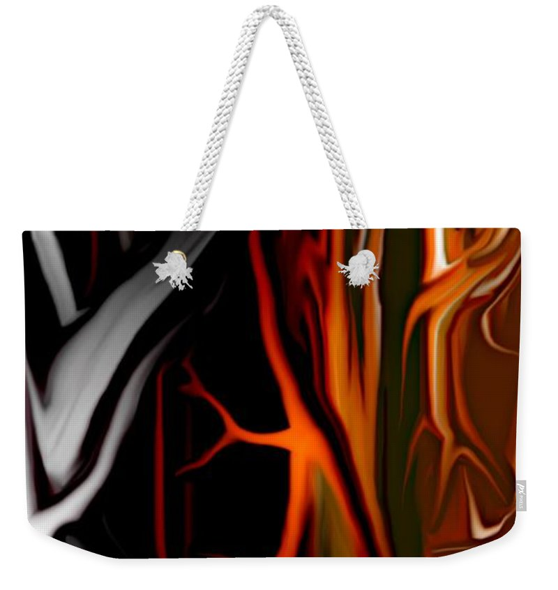 Abstract Digital Painting Weekender Tote Bag featuring the digital art Haunted by David Lane
