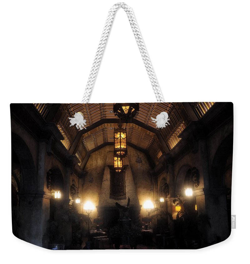 Hotel Weekender Tote Bag featuring the painting Haunted by David Lee Thompson