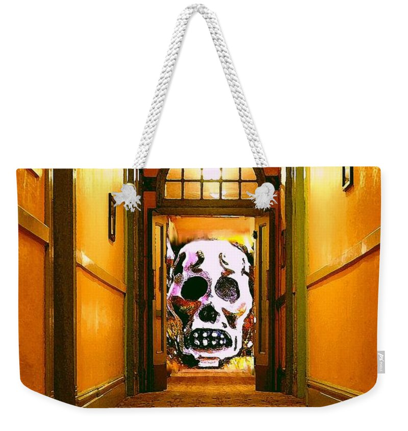 Haunted Weekender Tote Bag featuring the photograph Haunted Hallway by Nelson Strong