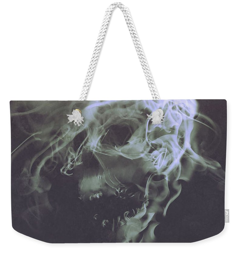 Acrylic Weekender Tote Bag featuring the painting Haunted Smoke by Tithi Luadthong