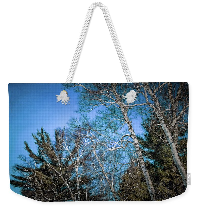Weekender Tote Bag featuring the photograph Haunted Trees by Chroma Photographer
