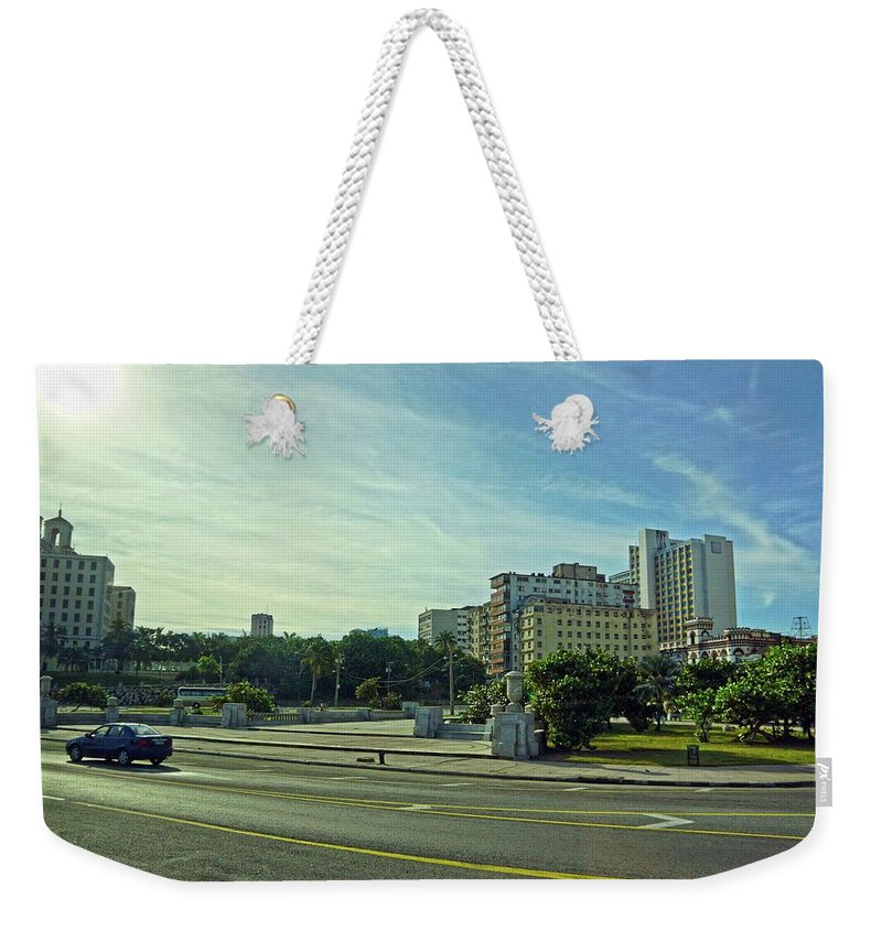 Havana Weekender Tote Bag featuring the photograph Havana-43 by Rezzan Erguvan-Onal