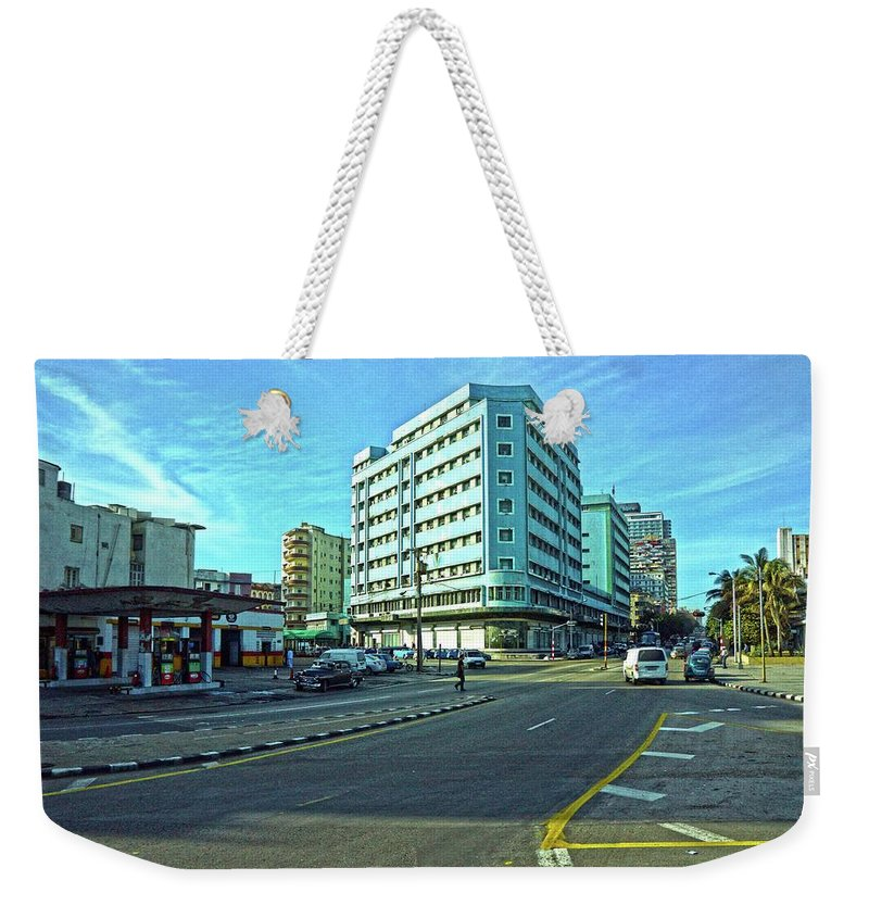 Havana Weekender Tote Bag featuring the photograph Havana-45 by Rezzan Erguvan-Onal