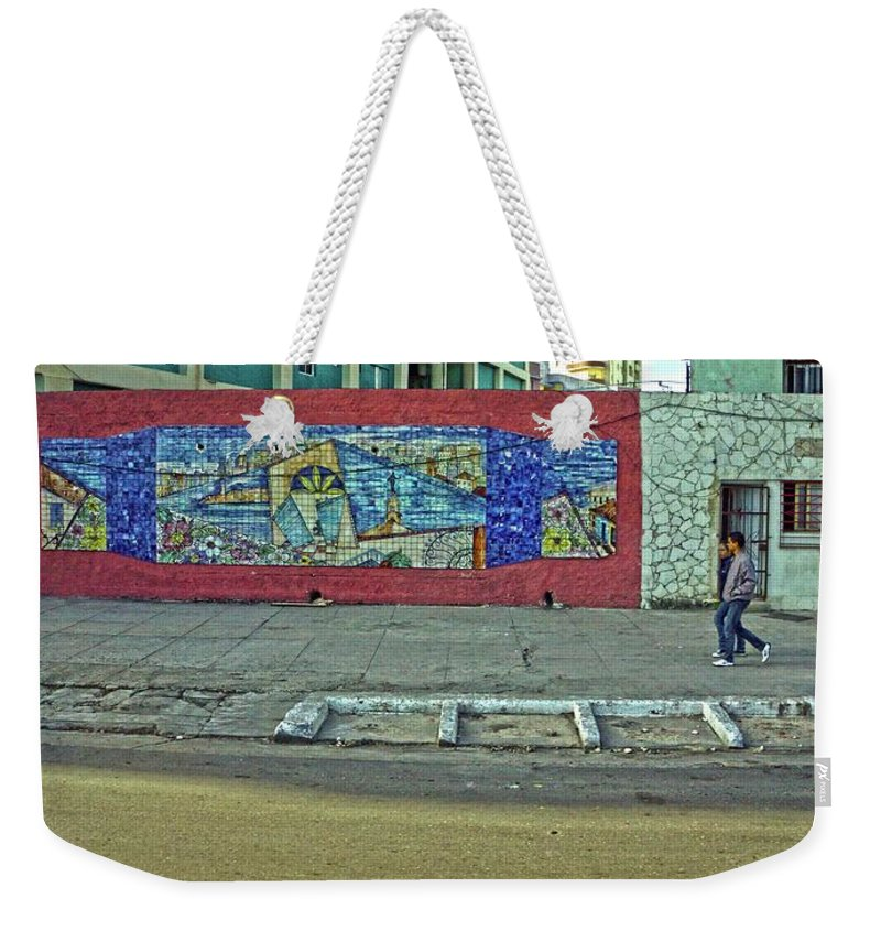 Havana Weekender Tote Bag featuring the photograph Havana-46 by Rezzan Erguvan-Onal