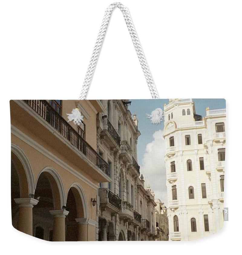 Photo Weekender Tote Bag featuring the photograph Havana Vieja by Quin Sweetman