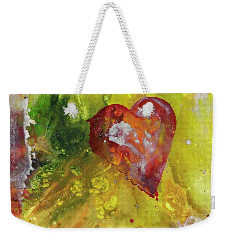 Heart Weekender Tote Bag featuring the painting Have A Heart by Kasha Ritter