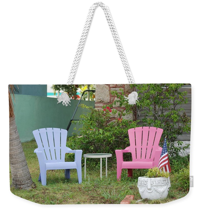Art Deco Weekender Tote Bag featuring the photograph Have A Seat by Rob Hans