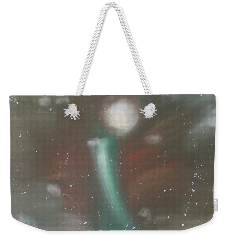 Mind Weekender Tote Bag featuring the painting Have You Been Eliminated Or Not? by Min Zou