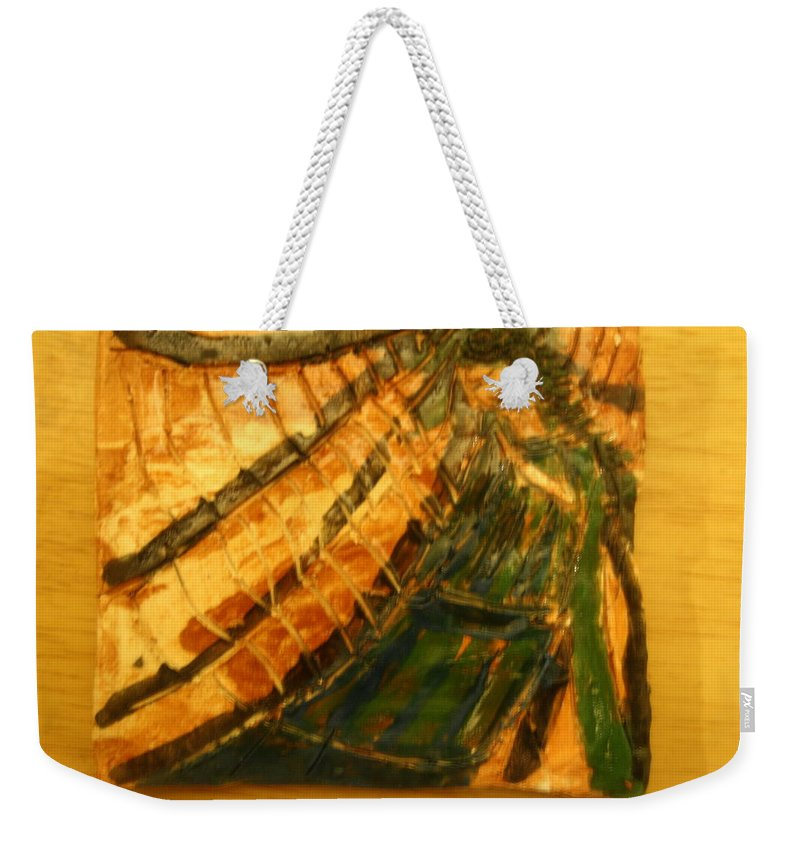 Jesus Weekender Tote Bag featuring the ceramic art Haven - Tile by Gloria Ssali