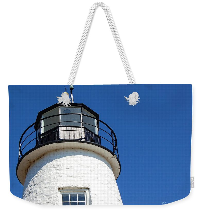 Lighthouse Weekender Tote Bag featuring the photograph Havre De Grace Lighthouse 2 by Debbi Granruth