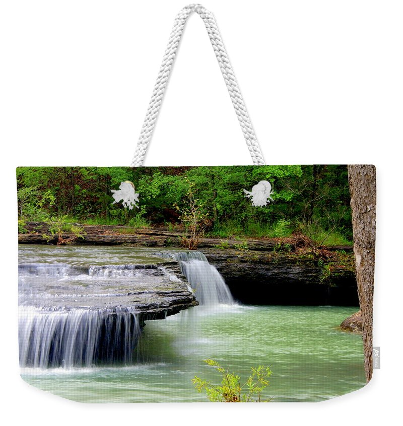 Waterfalls Weekender Tote Bag featuring the photograph Haw Creek Falls by Marty Koch