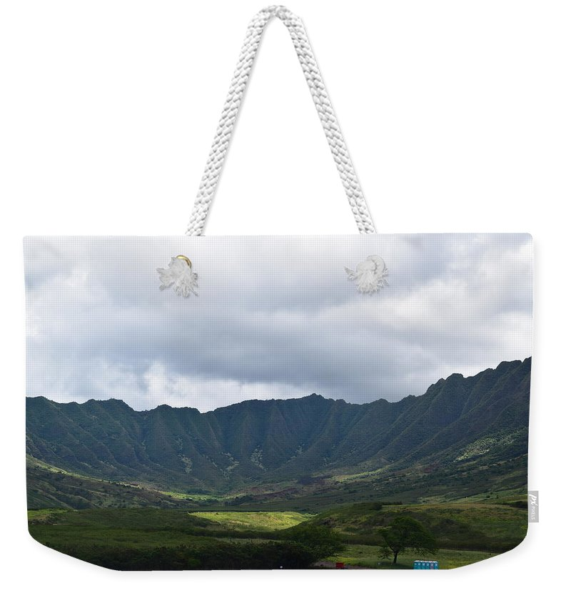Hawaii Weekender Tote Bag featuring the photograph Hawaii Valleys by Samantha Peel
