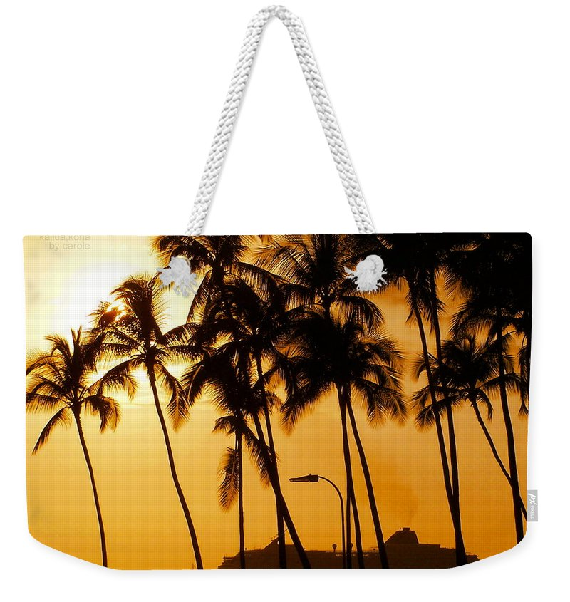 Landscape Weekender Tote Bag featuring the photograph Hawaiian Cruise by Athala Carole Bruckner