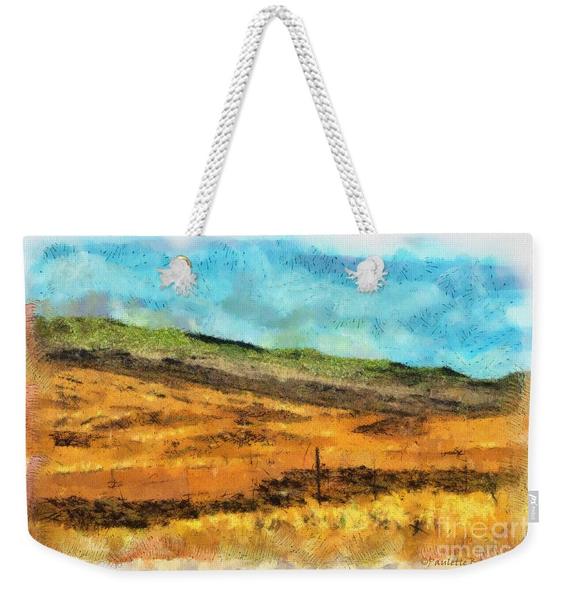 Photograph Weekender Tote Bag featuring the photograph Hawaiian Pasture by Paulette B Wright