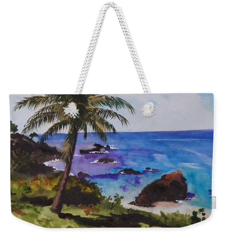 Hawaii Weekender Tote Bag featuring the painting Hawaiian Splendor by Jean Blackmer