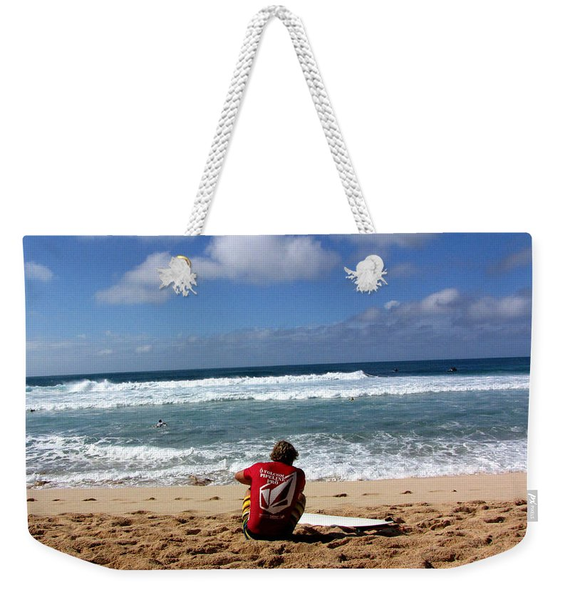 Surfer Weekender Tote Bag featuring the photograph Hawaiian Surfer by Sarah Houser