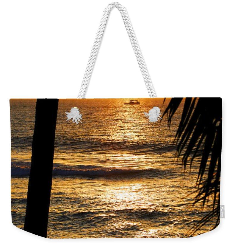 Hawaii Weekender Tote Bag featuring the photograph Hawaiin Sunset by Marilyn Hunt