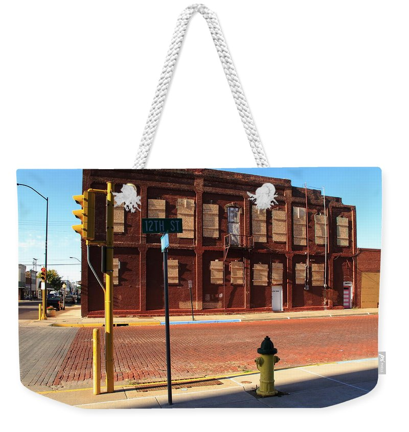 America Weekender Tote Bag featuring the photograph Hays, Kansas - 12th Street by Frank Romeo