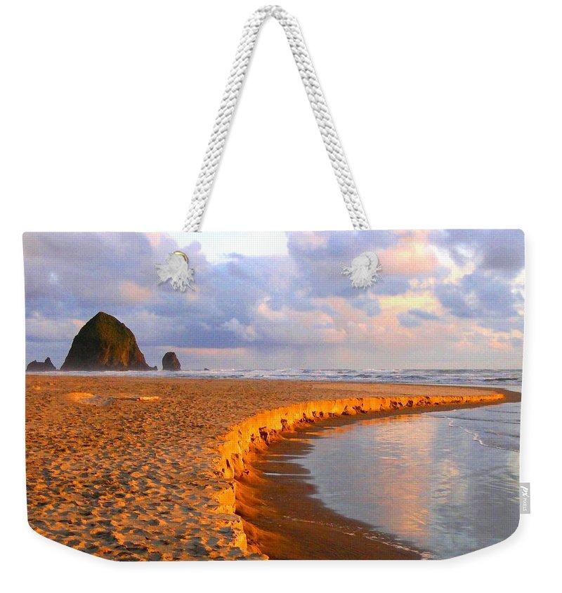 Haystack Heaven Weekender Tote Bag featuring the digital art Haystack Heaven by Will Borden