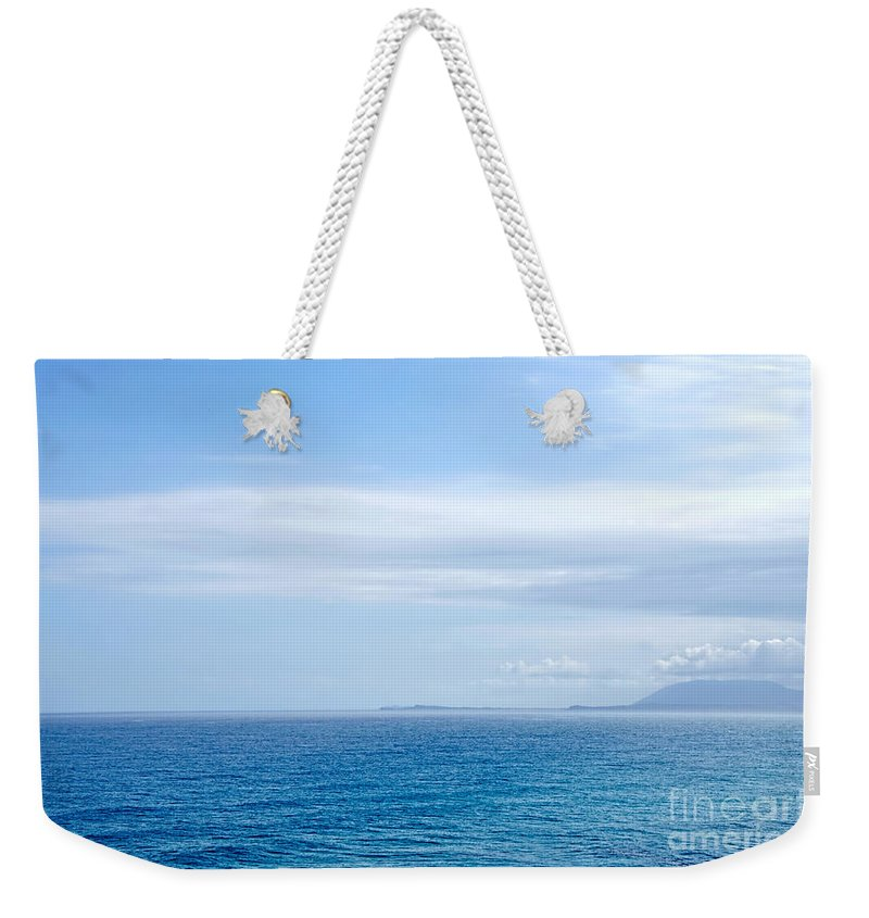 Photography Weekender Tote Bag featuring the photograph Hazy Ocean View by Kaye Menner