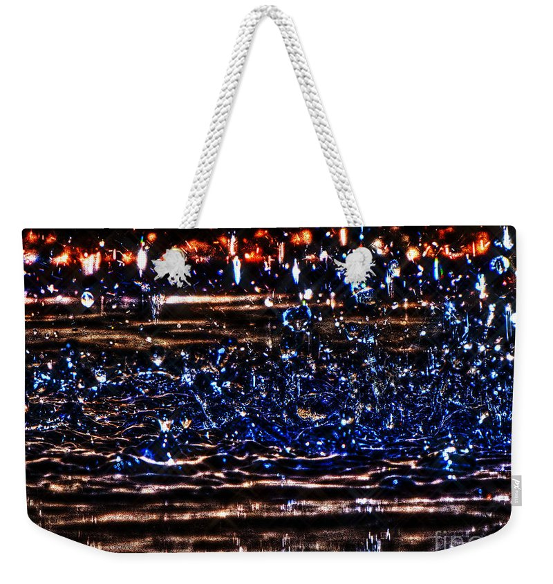 Water Weekender Tote Bag featuring the photograph Hdr Water Dancer by September Stone