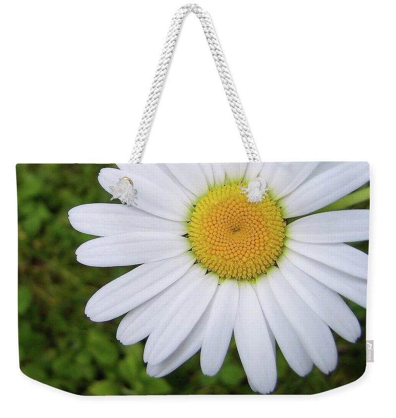 Flower Weekender Tote Bag featuring the photograph He Loves Me by JAMART Photography
