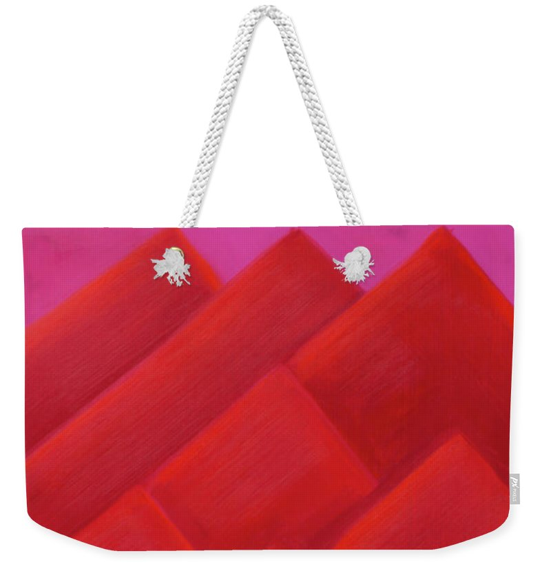 He Tu Weekender Tote Bag featuring the painting He Tu Fire by Adamantini Feng shui