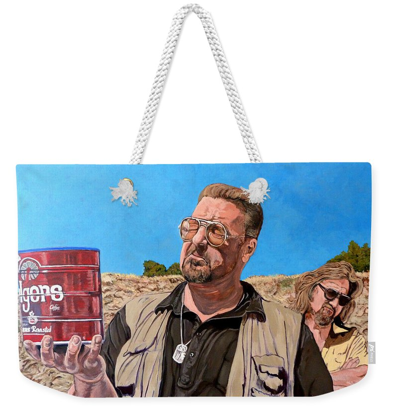 Walter Weekender Tote Bag featuring the painting He Was One Of Us by Tom Roderick