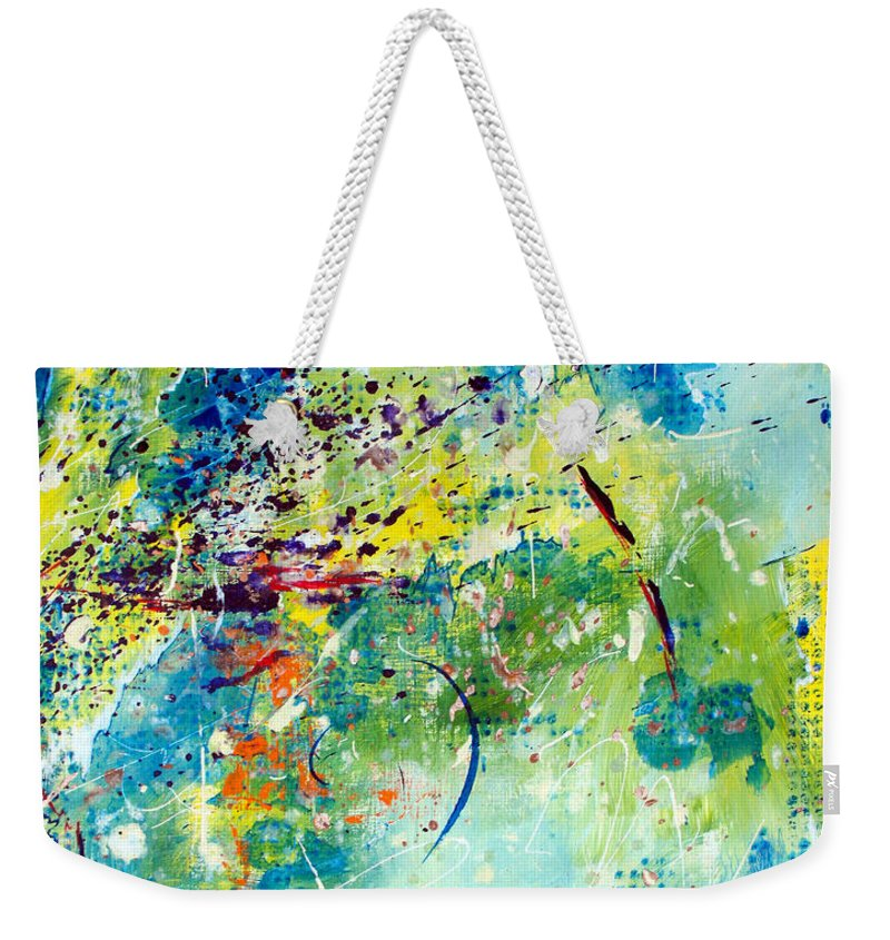 ruth Palmer Weekender Tote Bag featuring the painting He Watches Over Me II by Ruth Palmer