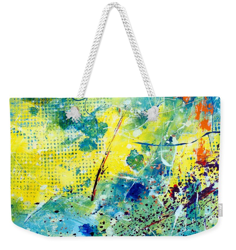 ruth Palmer Weekender Tote Bag featuring the painting He Watches Over Me by Ruth Palmer
