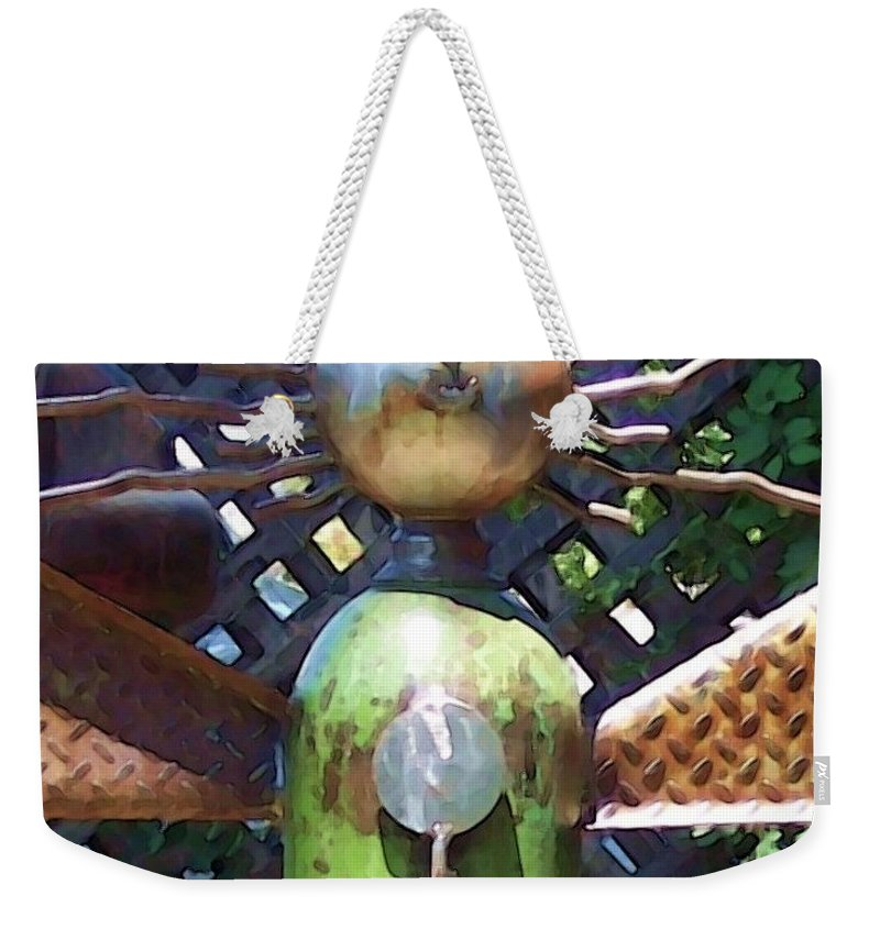 Sculpture Weekender Tote Bag featuring the photograph Head for Detail by Debbi Granruth
