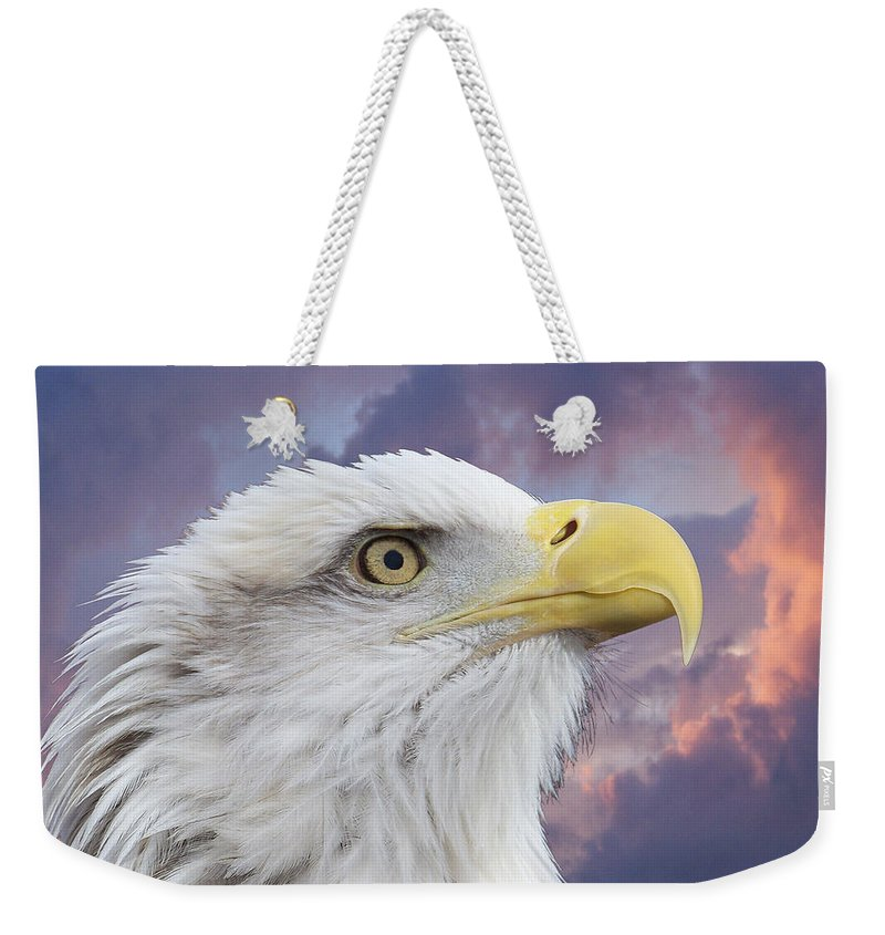 Animals Weekender Tote Bag featuring the photograph Head In Clouds by Ernie Echols
