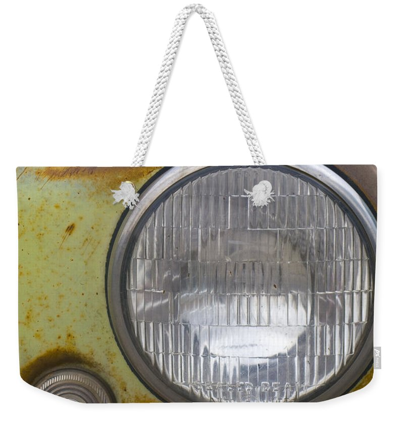 Vintage Weekender Tote Bag featuring the photograph Head Light by Jeffery Ball