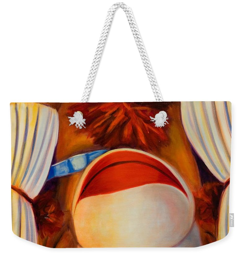 Children Weekender Tote Bag featuring the painting Head-over-heels by Shannon Grissom