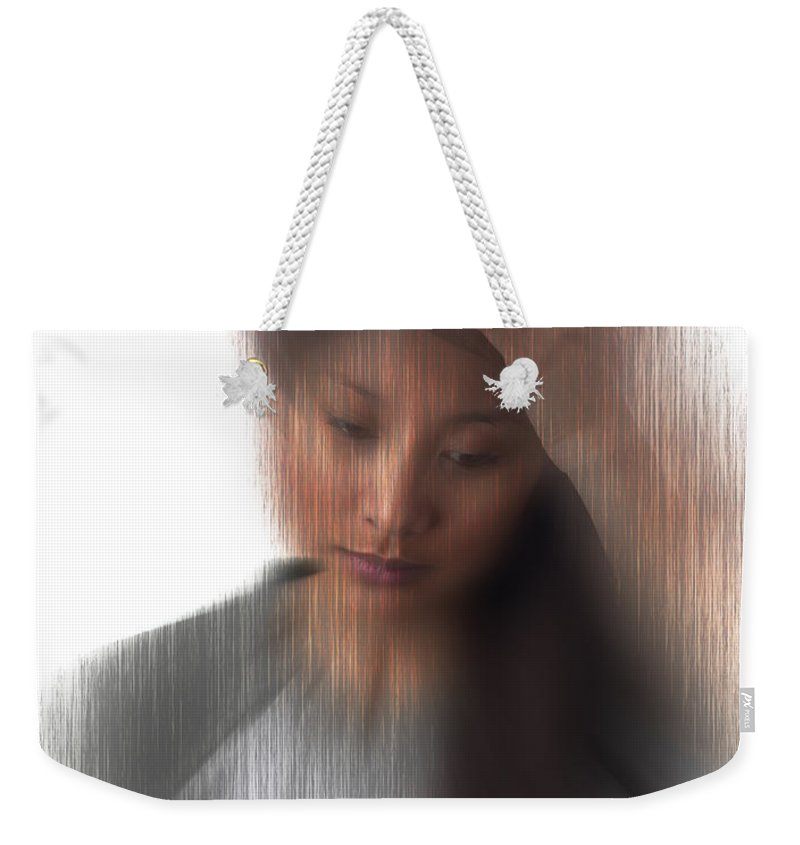 Headache Weekender Tote Bag featuring the photograph Headache Sufferer by George Mattei
