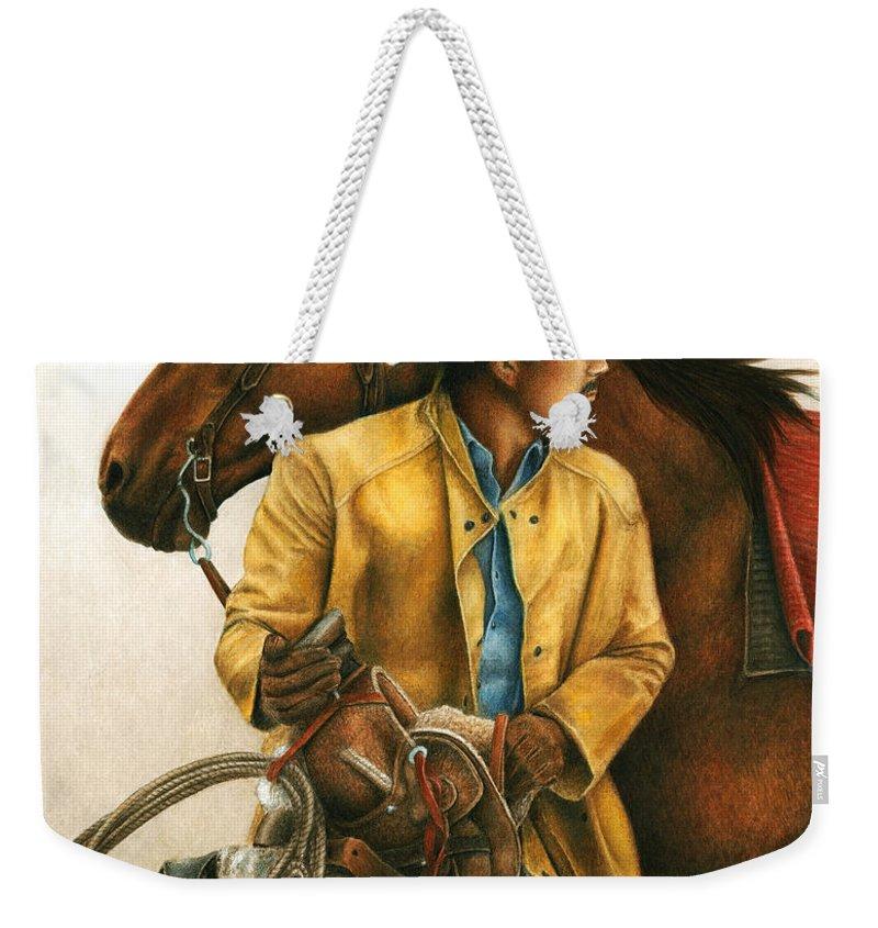 Saddle Weekender Tote Bags