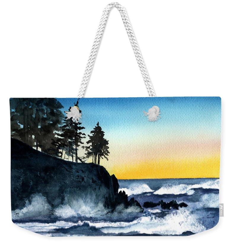 Alaska Weekender Tote Bag featuring the painting Headland by Brenda Owen