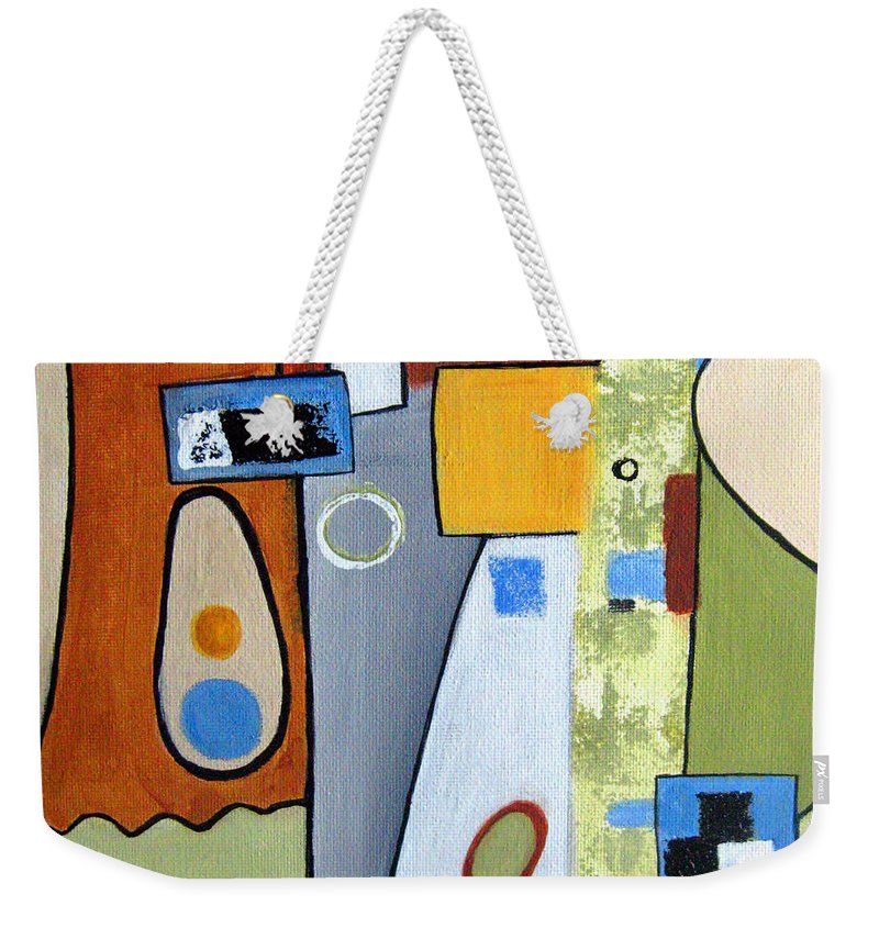 Abstract Weekender Tote Bag featuring the painting Headspin II by Ruth Palmer