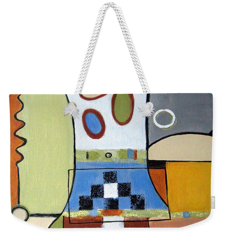 Abstract Weekender Tote Bag featuring the painting Headspin by Ruth Palmer