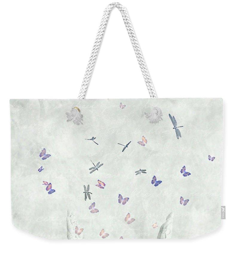 Surreal Weekender Tote Bag featuring the digital art Heal by Jacky Gerritsen