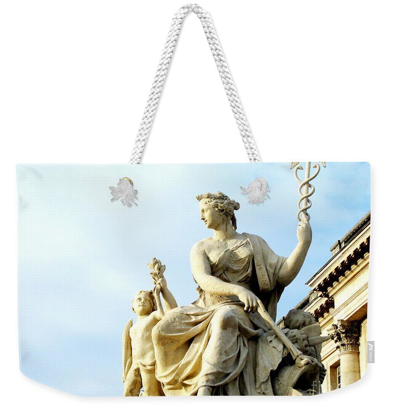 Statues Weekender Tote Bag featuring the photograph Healing by Amanda Barcon