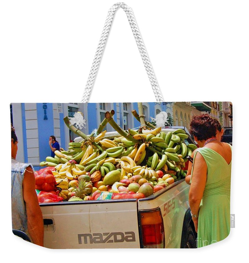 Fruit Weekender Tote Bag featuring the photograph Healthy Fast Food by Debbi Granruth