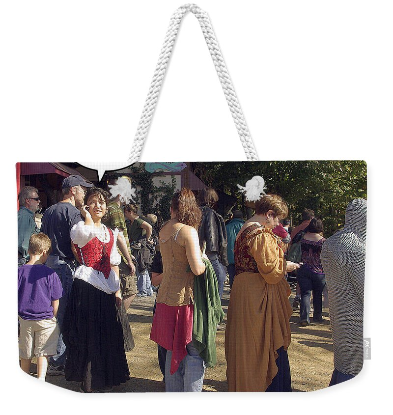 2d Weekender Tote Bag featuring the photograph Hear Me Now by Brian Wallace