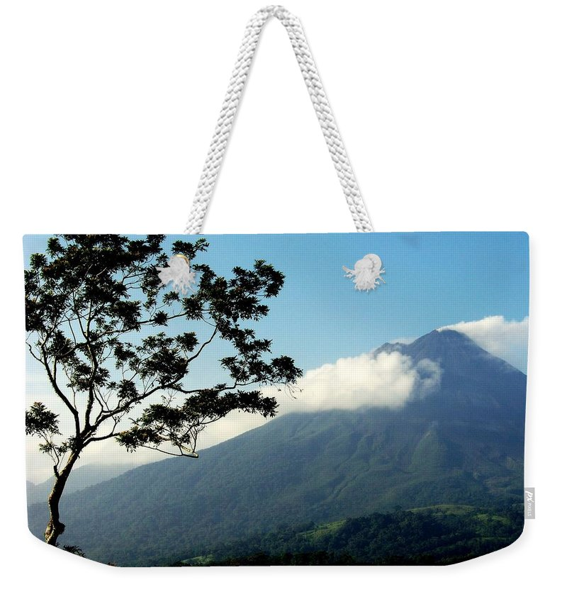 Volcanos Weekender Tote Bag featuring the photograph Hear The Winds Blow by Karen Wiles