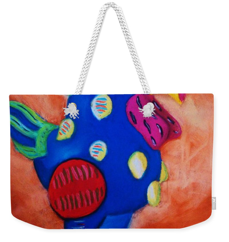 Chick Weekender Tote Bag featuring the painting Hear Ye Hear Ye by Melinda Etzold