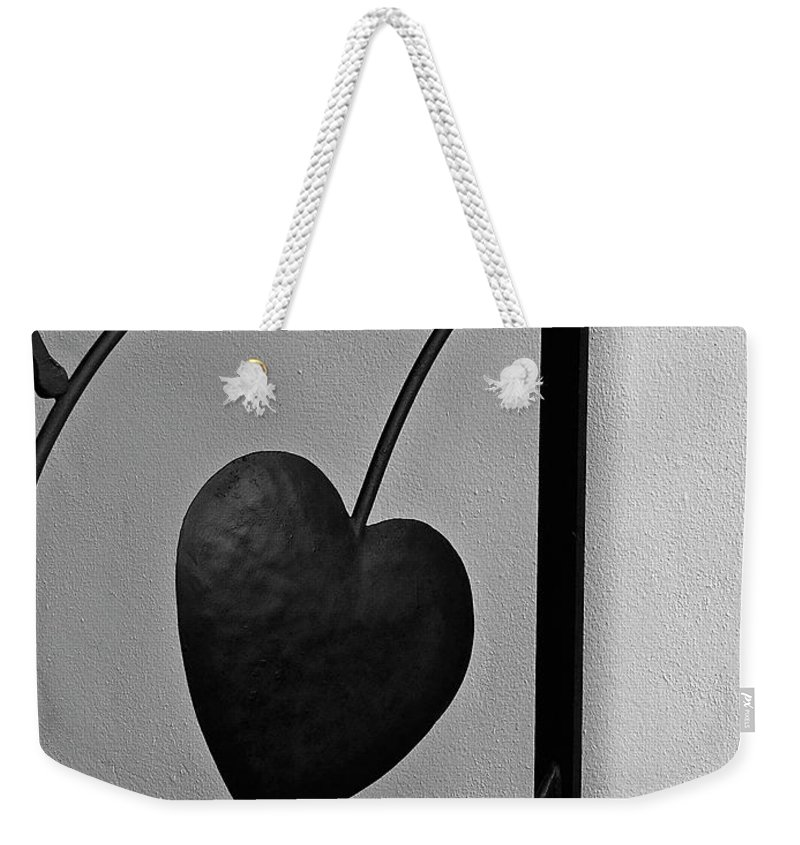 Heart Weekender Tote Bag featuring the photograph Heart Art by Diana Hatcher