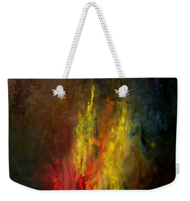 Art Weekender Tote Bag featuring the painting Heart Of Art by Rushan Ruzaick