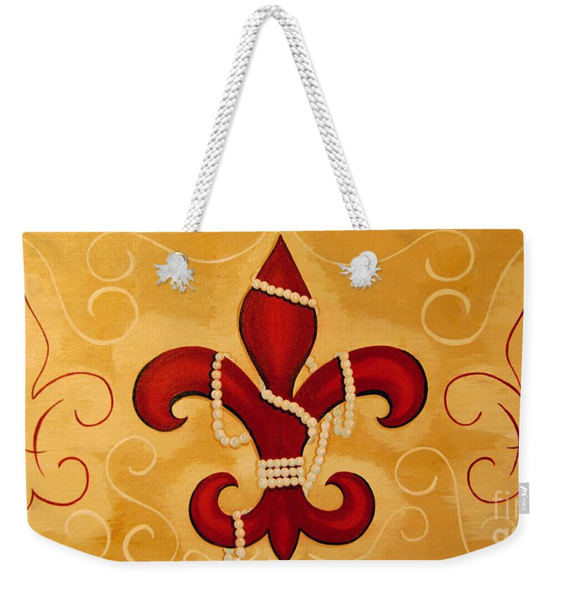 Fleur De Lis Weekender Tote Bag featuring the painting Heart Of New Orleans by Valerie Carpenter