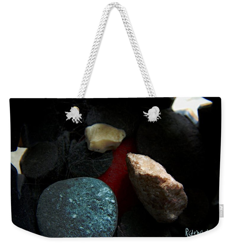 Rocks Weekender Tote Bag featuring the photograph Heart Of Stone by RC DeWinter